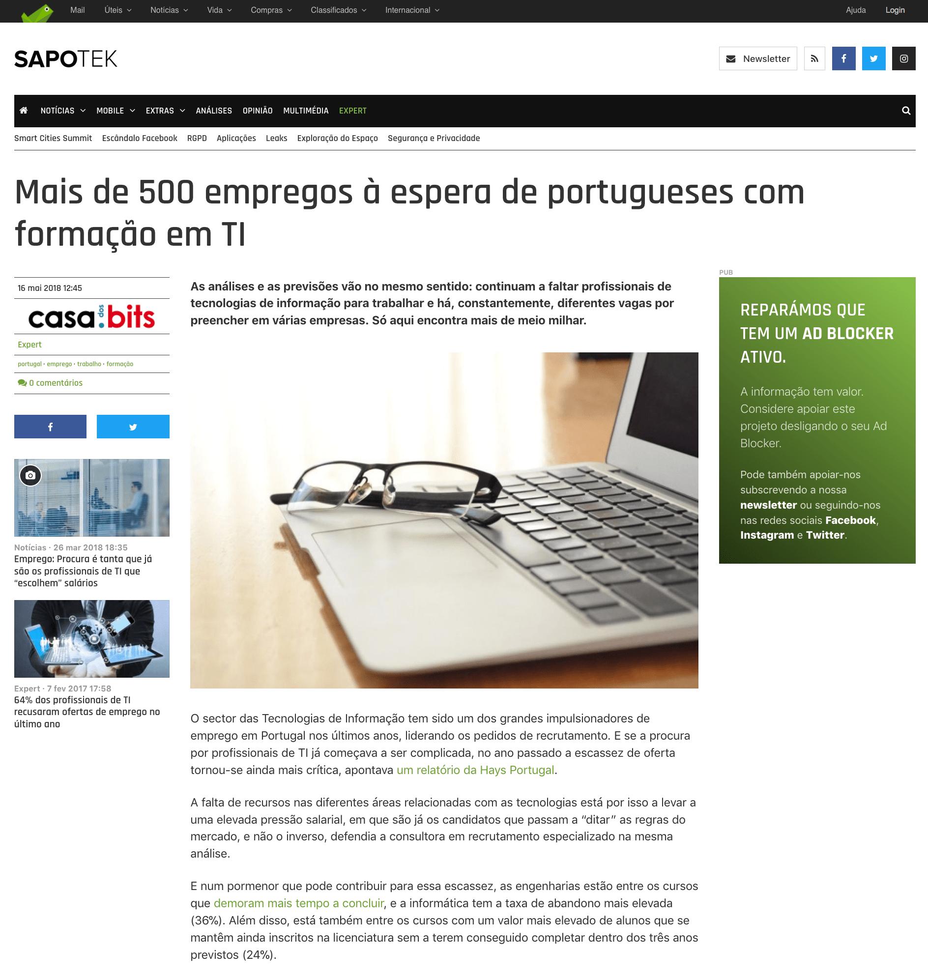 500 empregos à espera de Portugueses com formação em IT - PC Guia