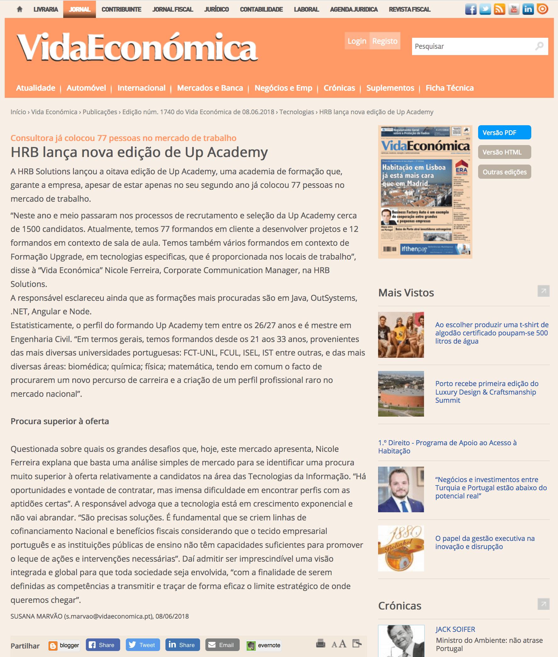 HRB lança nova edição de UP Academy - VidaEconómica